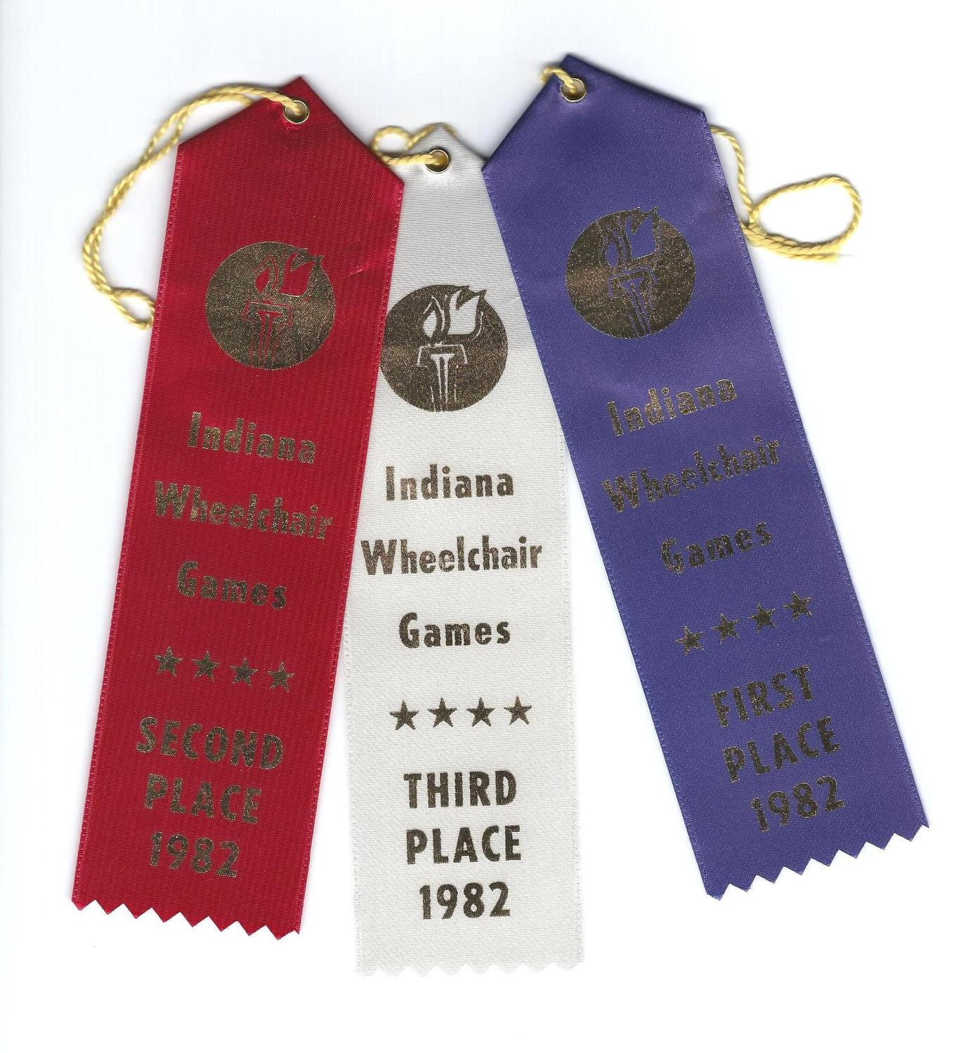 Indiana Wheelchair Games Ribbons