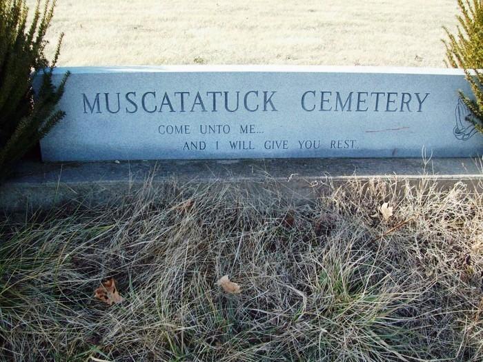 Muscatatuck Cemetery Entrance