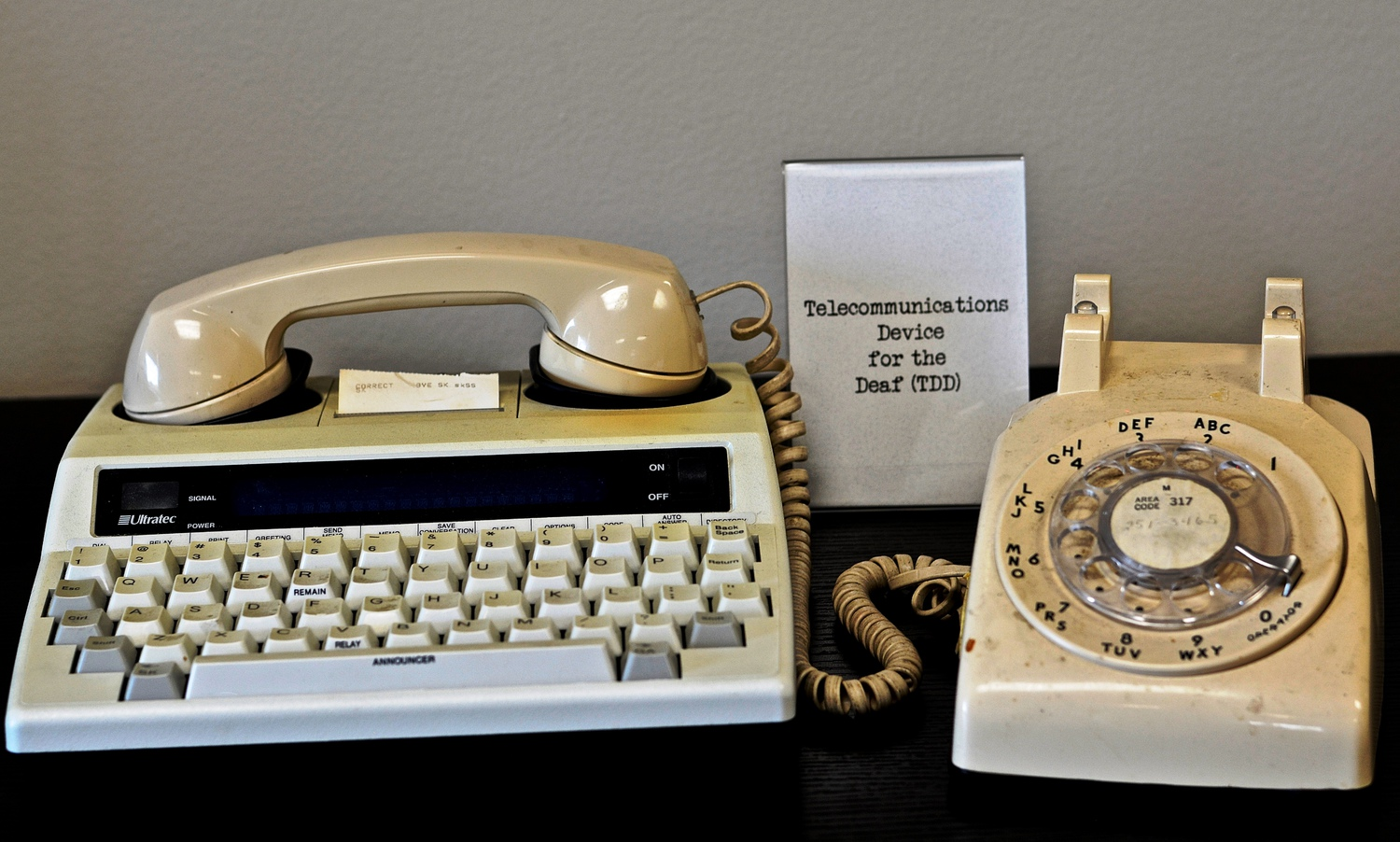 Telecommunications Device for the Deaf (TDD)<br />