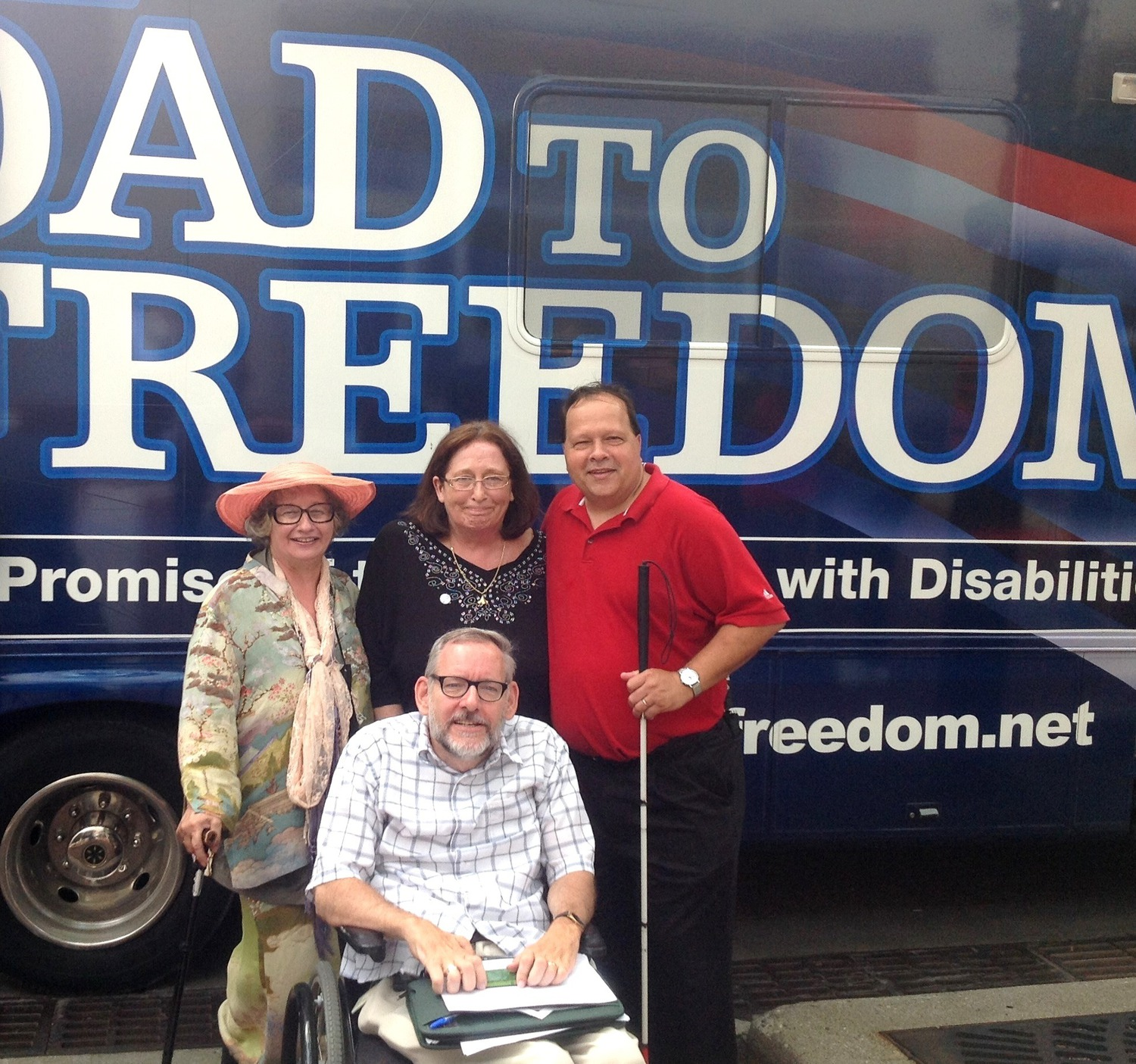 Four Advocates at Indianapolis Stop of ADA at 25 Legacy Tour