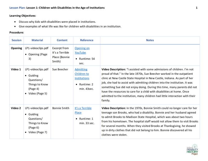 Educator Guide Lesson Plan for Lesson 1