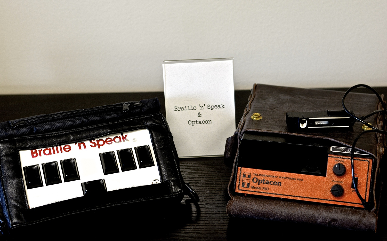 Braille 'n Speak and Optacon Model R1D<br />