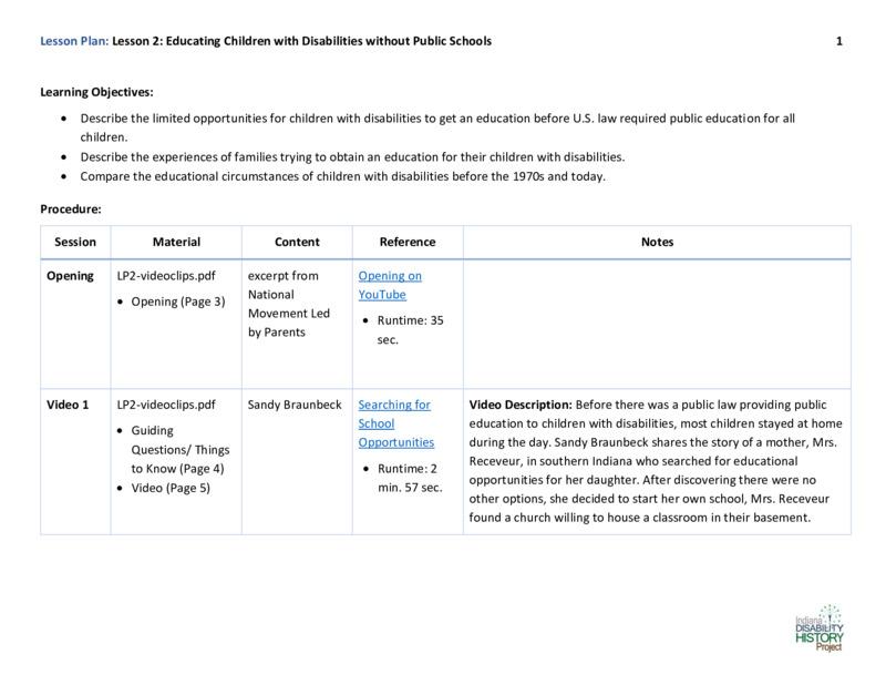 Educator Guide: Lesson Plan for Lesson 2