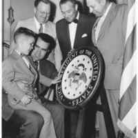 Bikey Smith with Vice President Richard Nixon