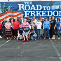 Monticello, Indiana Group with ADA at 25 Legacy Tour Bus