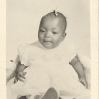 Infant Betty Williams in White Dress